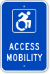 Access Mobility  Parking Sign
