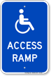 Access Ramp Handicap Sign