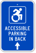 Accessible Parking New ADA Sign (With Graphic)