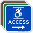 Access Sign with Right Arrow