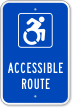 Accessible Route Parking Sign