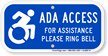 Updated ADA Access Sign