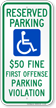 Alabama Reserved Accessible Parking Sign