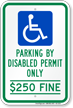 Florida ADA Handicapped Parking Sign