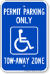Georgia Accessible Permit Parking Only Sign