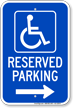 Michigan Bidirectional Reserved Accessible Parking Sign