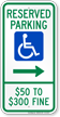 Missouri Bidirectional Reserved Accessible Parking Sign