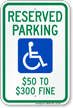 Missouri Reserved Accessible Parking Sign