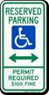 Montana ADA Handicapped Parking Sign