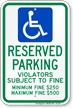 Ohio Reserved Accessible Parking Sign