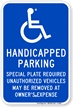 Massachusetts ADA Handicapped Sign