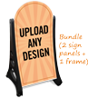 Add Custom Text And Upload Design Sidewalk Sign