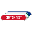 Add Your Custom Text Bi-directional Arrow Sign