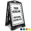 Add Headline and Additional Text Custom Sidewalk Sign