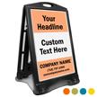 Add Headline Text BigBoss Portable Custom Sidewalk Sign