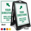 Add Instructions with Arrow Custom Sidewalk Sign