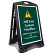 Add Warning Text BigBoss Portable Custom Sidewalk Sign