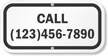 Add Your Phone Number Custom Curbside Pickup Sign
