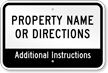 Add Your Property Name Or Directions Custom Parking Sign