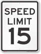 Advisory Speed Sign