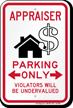 Appraiser Parking Only Violators Will Be Undervalued Sign