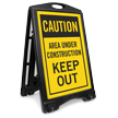 Area Under Construction Keep Out Portable Sign Kit