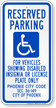 Arizona ADA Handicapped Reserved Parking Sign