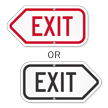 Arrow Exit Sign
