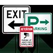 Parking Lot Under Video Surveillance Attention Sign