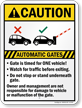 Automatic Gates, Watch For Traffic Before Exiting Sign