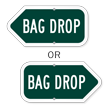 Bag Drop Golf Course Sign