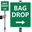 Bag Drop Right Arrow Lawnboss Sign Kit