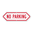 Bi-Directional No Parking Sign