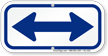 Bidirectional Arrow, Supplemental Parking Sign, Blue
