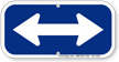 Bidirectional Arrow, Supplemental Sign, Blue Reversed