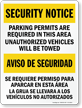 Bilingual Parking Permits Are Required In This Area Sign