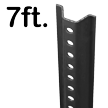 Standard U-Channel Black Sign Post - 7' tall