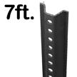 Standard U-Channel Black Sign Post - 7' tall