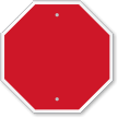Blank Octagon Shaped Bordered Sign