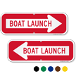 Boat Launch Right Arrow Directional Sign
