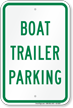 Boat Trailer Parking Sign