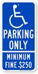 California Combination Handicap Parking Sign