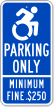 Accessible Parking Sign With Modified ISA Icon