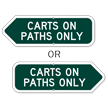 Carts On Paths Only Golf Course Sign