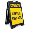 Caution Uneven Surface Sidewalk Sign
