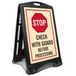 STOP Check Before Proceeding Sidewalk Sign Kit