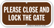 Close and Lock the Gate Sign