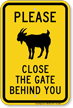 Close The Gate Behind You, Goat Symbol Sign