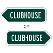Clubhouse Golf Course Sign