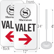 Custom Valet Parking Sign And Post Kit